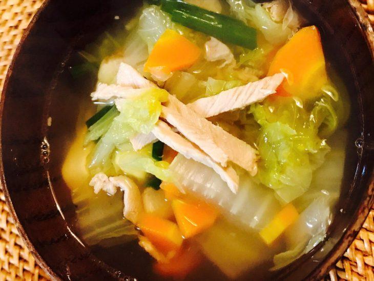 野菜たっぷりチャーシュースープ